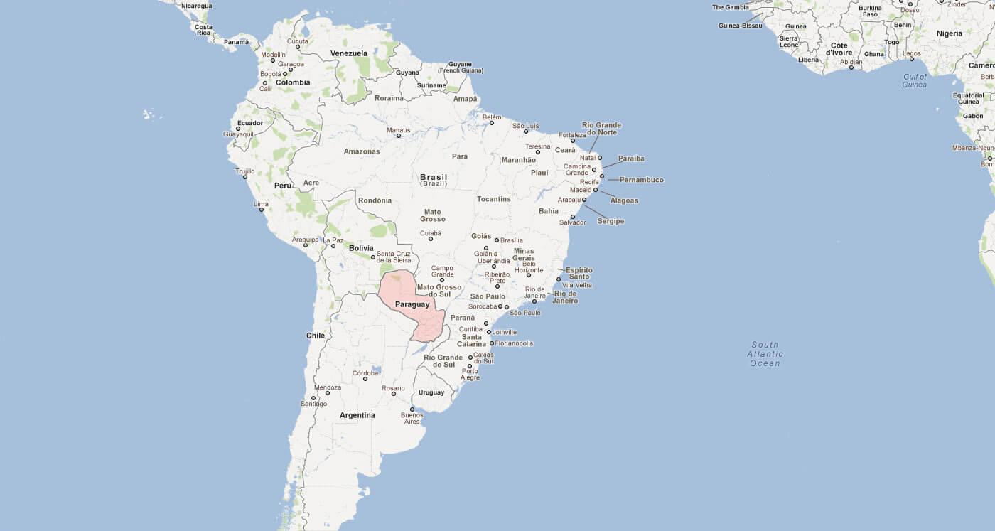 America South America Map.Paraguay Map South America Map Of Paraguay South America South