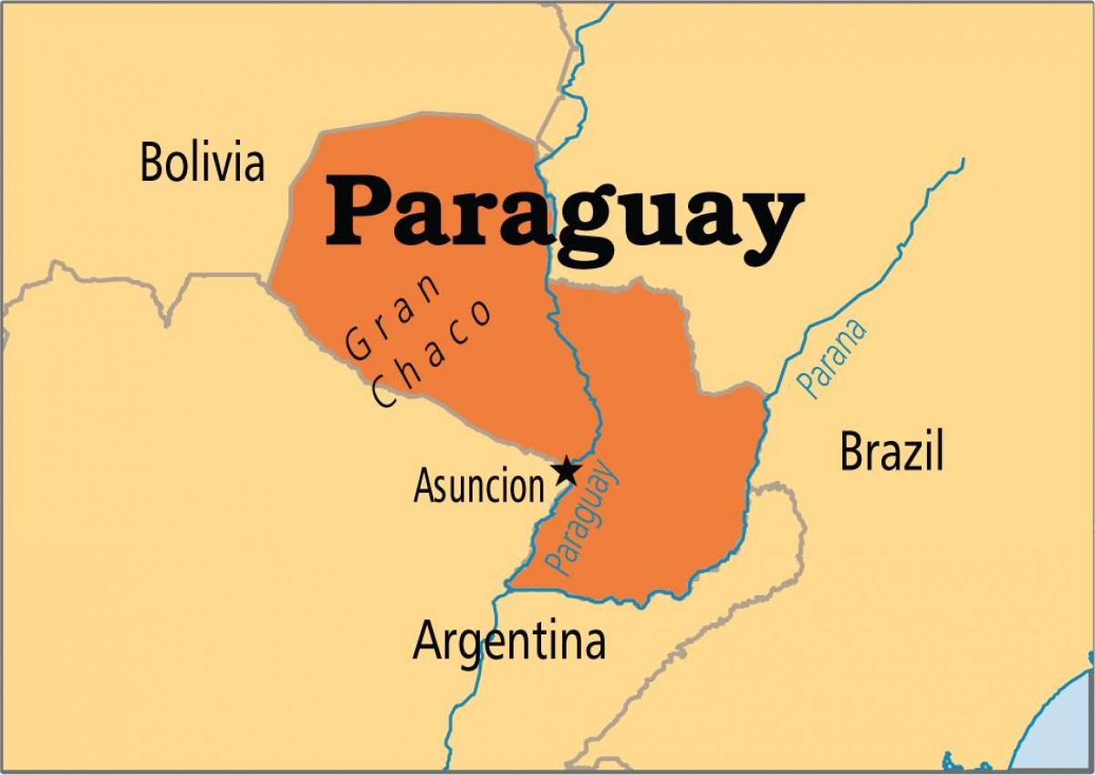 capital of Paraguay map