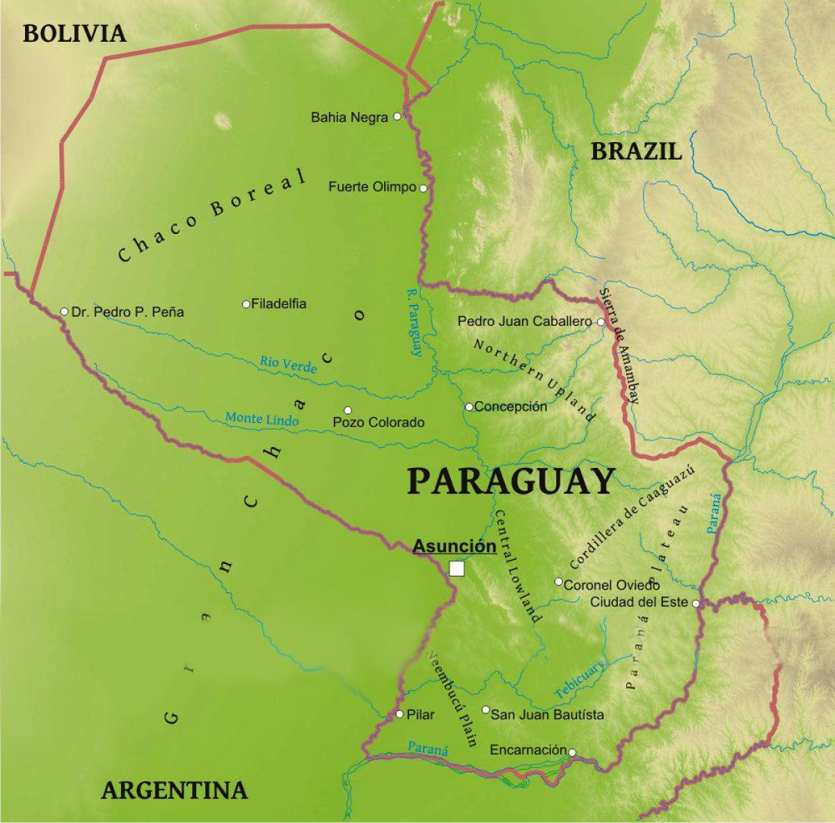 Map of Paraguay geography