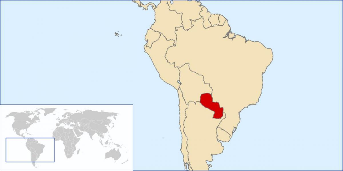 Paraguay location on world map