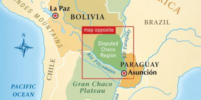 Map of rio Paraguay